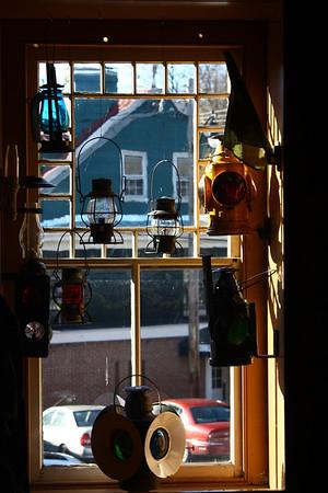 Railroad lanterns at the B&O Mseum in Ellicott City.