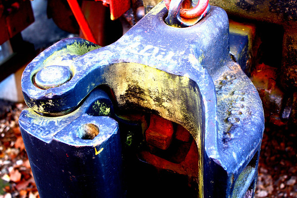 This is the coupling on a caboose at the B&O Rairoad Mueum in Ellicott City,MD.  I boosted th colors and contrast with Picnik.  The original, also in the gallery, is a little drab.